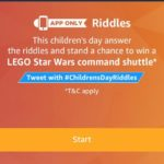 (All Answers) Amazon Children's Day Riddle Quiz – Answer & WinLego star wars command shutter