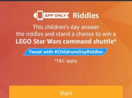 (All Answers) Amazon Children's Day Riddle Quiz – Answer & Win Lego star wars command shutter