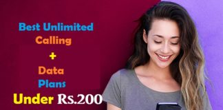 Best Unlimited Calling+Data Plans Under Rs.200 From All Operators