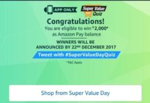 (All Answers)Amazon Super Value day Quiz – Answer & Win Rs 2000