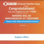 (All Answers) Amazon Fashion Quiz - Answer and Win Rs 1000
