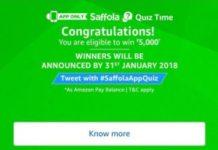 (All Answers) Amazon Saffola Quiz-Answer & Win Rs.5000