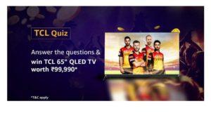 Amazon TCL Quiz Answers