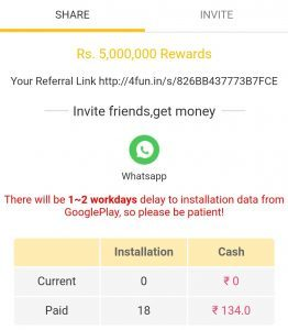 (Loot) 4FUN App- Rs.30 On Sign UP+Rs.7 Per Refer(Free PayTM)