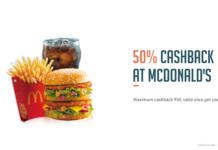 Freecharge Mcdonald's Offer: Get 50% Cashback at Mcdonald's