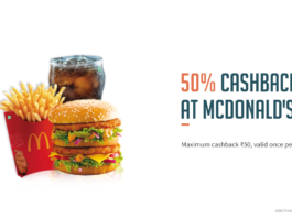 Freecharge Mcdonald's Offer: Get 50% Cashback at Mcdonald's