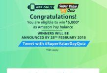 (All Answers)Amazon Super Value day Quiz – Answer & Win Rs 5000