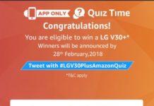 (All Answers)Amazon LG V30+ Quiz - Answers & win LG V30+ Smartphone