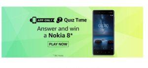 (All Answers)Amazon Nokia 8 Quiz – Answer & Win Nokia 8