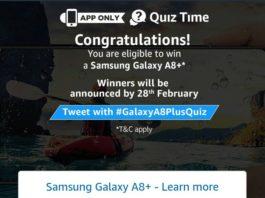 (All Answers)Amazon Samsung Galaxy A8+ Quiz - Answers & win Samsung Galaxy A8+