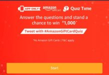(All Answers) Amazon Gift Cards Quiz-Win Rs.1000(200 Winners)