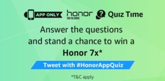 (All Answers)Amazon Honor 7x quiz - Answer & win Honor 7x