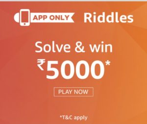 (All Answers) Amazon Riddles Quiz – Answer & Win Rs.5000