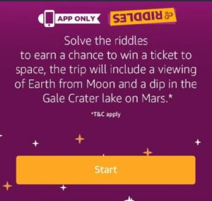 (All Answers) Amazon Riddles Quiz – Answer & Win Trip to Space