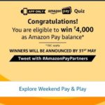(All Answers) Amazon Pay Quiz-Win Rs.4000 Amazon Pay Balance