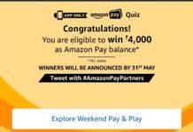 (All Answers) Amazon Pay Quiz-Win Rs.4000 Amazon Pay Balance