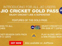 Jio 251 Cricket Plan- Daily 2GB Data For 51 Days+Free IPL Streaming