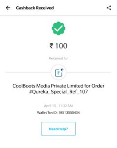(Proof) Qureka App -Rs.10 PayTM Cash On Each Refer+Win Rs.5000