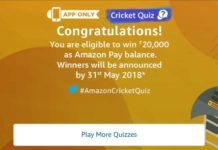 (All Answers) Amazon Cricket Quiz-Answer & Win Rs.20,000 (22nd April)