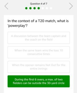(All Answers) Amazon Cricket Quiz-Answer & Win Rs.20,000 (28th April)