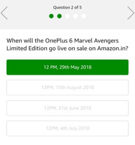 Amazon OnePlus 6 Quiz - Win Free OnePlus 6 Phone
