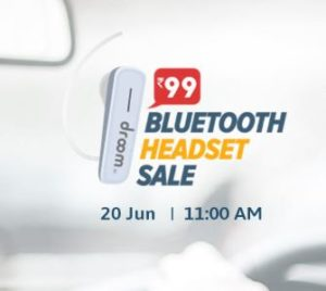 (Loot) Droom Bluetooth Headset Sale - Get Headset In Just Rs.99