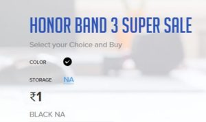 Honor Rs.1 Flash Sale