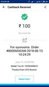 (Proof Added) OYO-Refer 2 Friends Get Rs.100 PayTM Cash+Rs.1000 OYO Cash