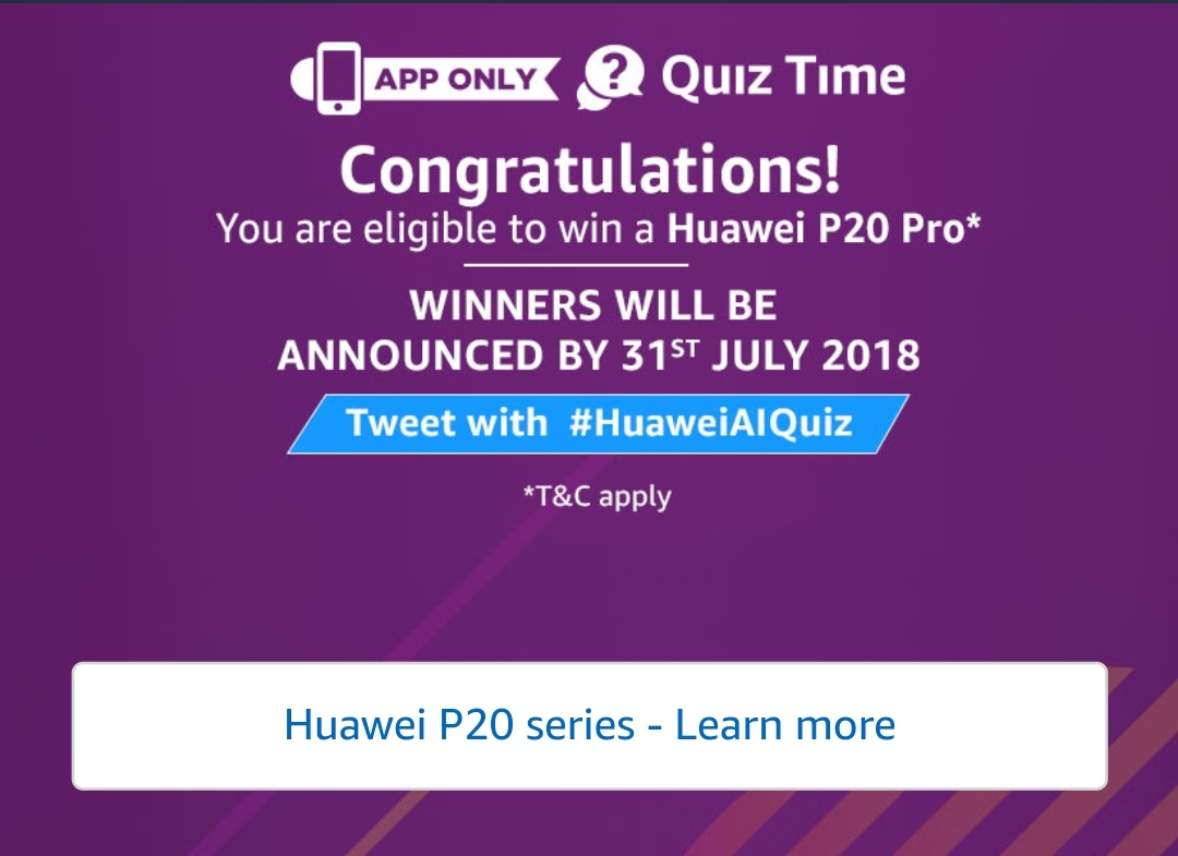 All Answers)Amazon Huawei Mate20 Pro Quiz Answers - Free Recharge
