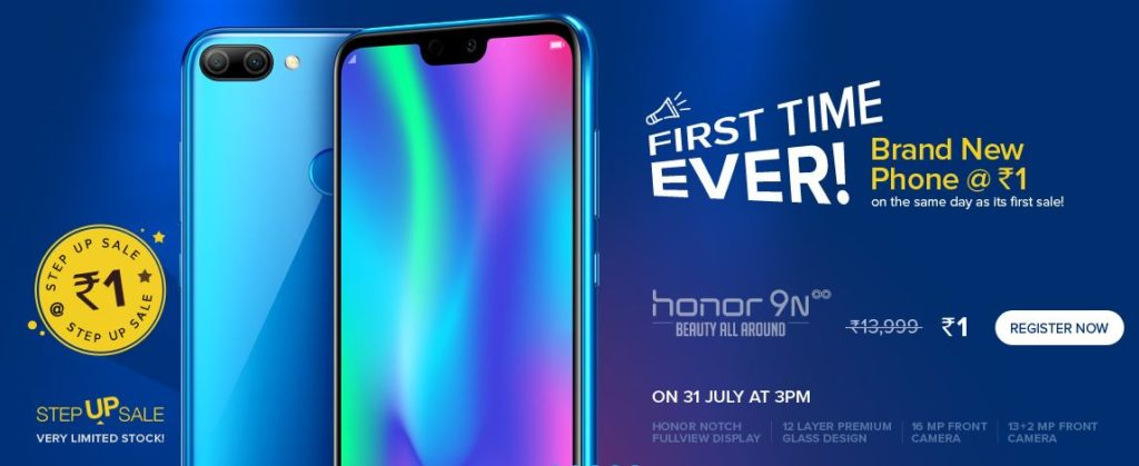 Honor Rs.1 Flash Sale - Buy Honor 9N In Just Rs.1(Next Sale)