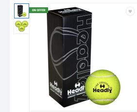 (🔥Hot) Headly Cricket Tennis Ball (Pack of 3) in Just ₹75(Worth ₹270)