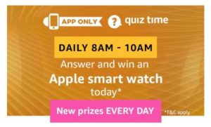 Amazon Apple Smart Watch Quiz Answers