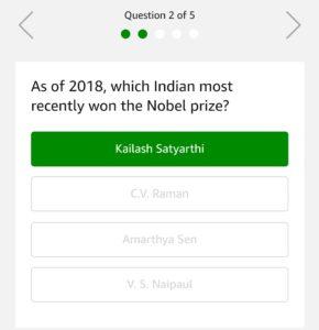 Amazon Freedom Quiz – Answer & Win Rs.5000