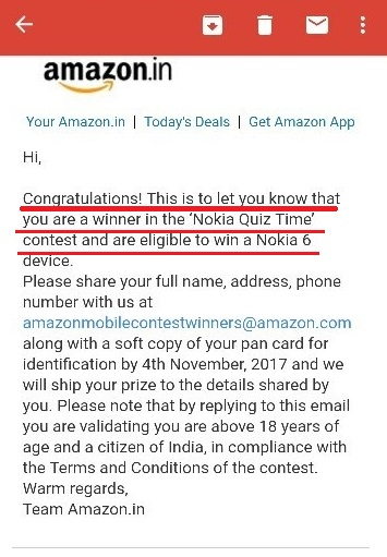 Amazon Quiz Time Daily 8-12