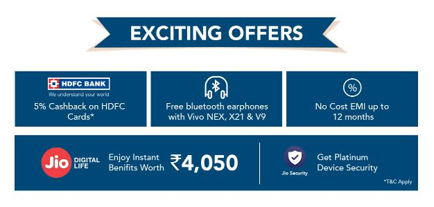Vivo Freedom Sale- Vivo Nex , V9 In Just ₹1947 , HeadPhones In ₹72