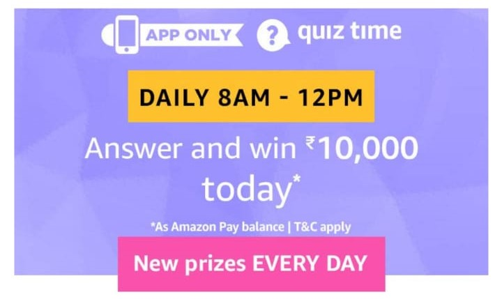 Amazon 3rd June Quiz Answers - Win Rs 10000 - Free Recharge
