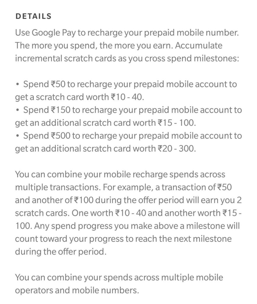 Google Pay Recharge Loot- Get Free Scratch Cards On Every Recharge