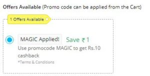PayTM Loot - Buy Deal Of Rs.1 & Get Rs.10 Cashback (New Code)