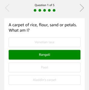 Amazon Festive Riddles Quiz Answers