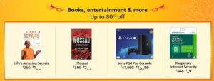 Amazon Great Indian Sale-Products Upto 80% Off (24th-28th Oct)