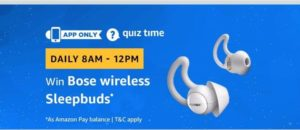 (All Answers)AmazonBose Wireless Sleepbuds Quiz Answers