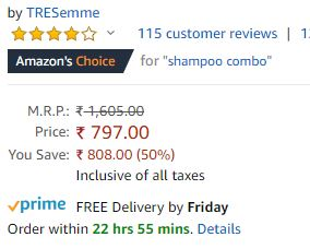 (Big Deal)TRESemme Shampoo+Conditioner+Philips Hair Dryer In Just ₹797(Worth ₹1605)