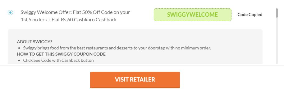 [Loot On] Swiggy Loot -Order Food Worth Rs.120 For Free (New/Old Users)