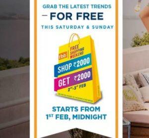 da88325bb20cb9 Fbb Free Shopping Weekend - ₹2000 Shopping For Free   Big Bazaar Too