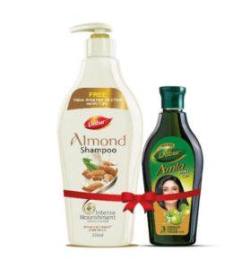 (Combo) Dabur Almond Shampoo+Free Amla Hair Oil In Just Rs.158(Worth Rs.225)