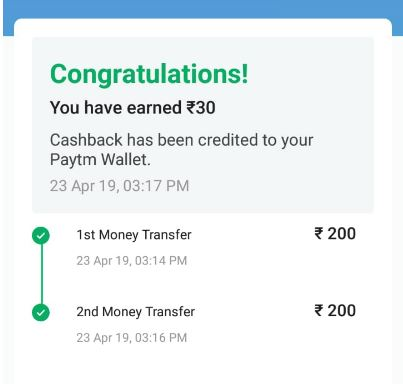 PayTM UPI Loot - Free ₹10+7 PayTM Cash On 2 UPI Transfers