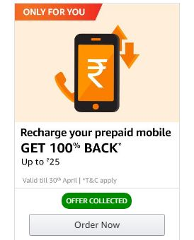 Amazon Recharge Offers August'19 - Get Upto Rs 300 Cashback