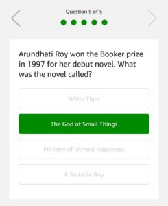 Amazon Quiz 5th March Answers - Win Sony Portable Party System