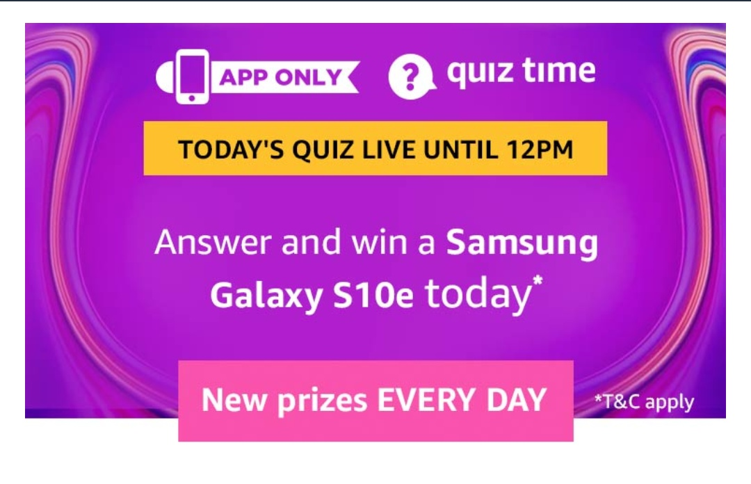 Today's Answers] Amazon Quiz Answers Today- Win Samsung