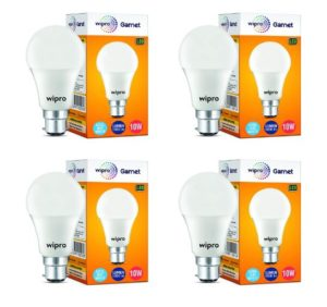 (Hot) Wipro 10-Watt LED Bulb (Pack of 4) In Just ₹349 (Worth ₹600)